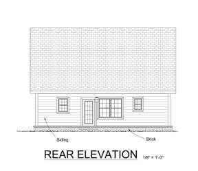 Narrow Lot House Plan #4848-00017 Elevation Photo