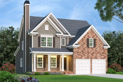 5 Bed, 3 Bath, 2920 Square Foot House Plan - #009-00119