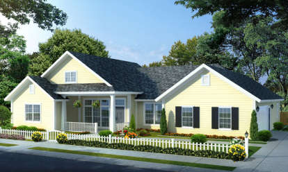4 Bed, 3 Bath, 1966 Square Foot House Plan - #4848-00039
