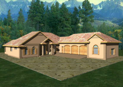 3 Bed, 2 Bath, 3044 Square Foot House Plan - #039-00119