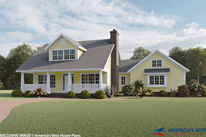 3 Bed, 2 Bath, 1675 Square Foot House Plan #4848-00040