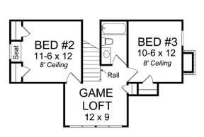 Floorplan 2 for House Plan #4848-00040