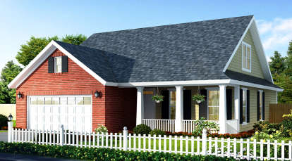 3 Bed, 2 Bath, 1549 Square Foot House Plan - #4848-00042
