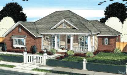 4 Bed, 3 Bath, 1884 Square Foot House Plan - #4848-00044
