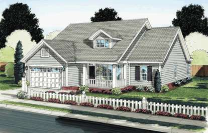4 Bed, 2 Bath, 1571 Square Foot House Plan - #4848-00056
