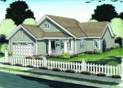 3 Bed, 2 Bath, 1339 Square Foot House Plan - #4848-00064