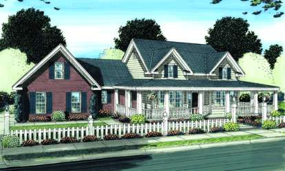 4 Bed, 3 Bath, 2525 Square Foot House Plan - #4848-00072