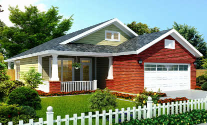 3 Bed, 2 Bath, 1253 Square Foot House Plan - #4848-00077