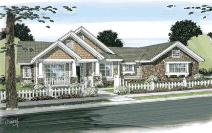 3 Bed, 3 Bath, 2210 Square Foot House Plan - #4848-00083