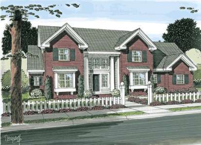3 Bed, 2 Bath, 2516 Square Foot House Plan - #4848-00084