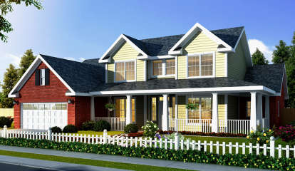 3 Bed, 2 Bath, 1891 Square Foot House Plan - #4848-00092