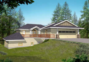 Contemporary House Plan #039-00125 Elevation Photo