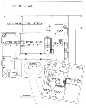 First Floor for House Plan #039-00125
