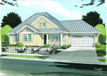 3 Bed, 3 Bath, 1286 Square Foot House Plan - #4848-00103