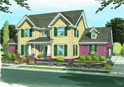 3 Bed, 2 Bath, 2334 Square Foot House Plan - #4848-00122