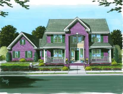 3 Bed, 3 Bath, 2562 Square Foot House Plan - #4848-00124