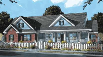 4 Bed, 3 Bath, 3408 Square Foot House Plan - #4848-00136