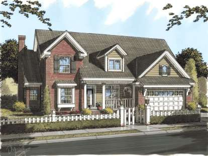 4 Bed, 3 Bath, 3451 Square Foot House Plan - #4848-00140