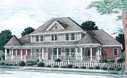 3 Bed, 2 Bath, 2758 Square Foot House Plan - #4848-00172