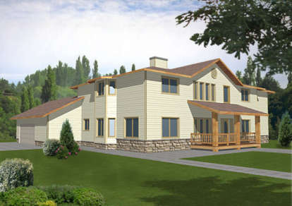 4 Bed, 3 Bath, 3815 Square Foot House Plan - #039-00140