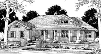 4 Bed, 2 Bath, 2191 Square Foot House Plan - #4848-00259
