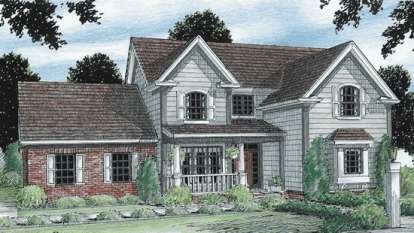 3 Bed, 2 Bath, 1896 Square Foot House Plan - #4848-00277