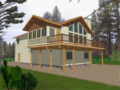 3 Bed, 2 Bath, 1811 Square Foot House Plan - #039-00144