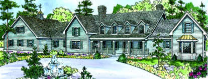 4 Bed, 4 Bath, 5194 Square Foot House Plan - #035-00380