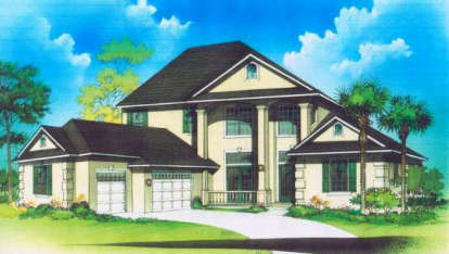 5 Bed, 4 Bath, 4273 Square Foot House Plan - #4766-00088