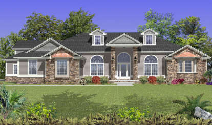 5 Bed, 3 Bath, 3257 Square Foot House Plan - #4766-00104