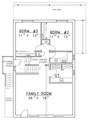 First Floor for House Plan #039-00149