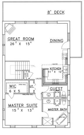 Second Floor for House Plan #039-00149
