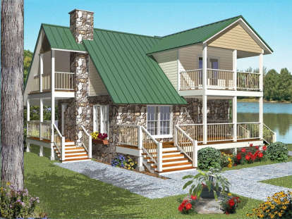 2 Bed, 2 Bath, 1719 Square Foot House Plan - #4766-00107