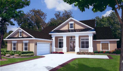 4 Bed, 3 Bath, 2715 Square Foot House Plan - #4766-00119