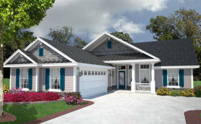 4 Bed, 2 Bath, 1938 Square Foot House Plan - #4766-00124