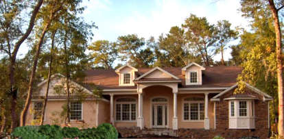 5 Bed, 3 Bath, 3310 Square Foot House Plan - #4766-00134