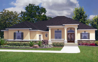 5 Bed, 4 Bath, 3454 Square Foot House Plan - #4766-00136