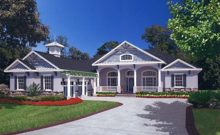 Florida House Plan #4766-00147 Elevation Photo