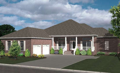 4 Bed, 2 Bath, 2542 Square Foot House Plan - #4766-00148