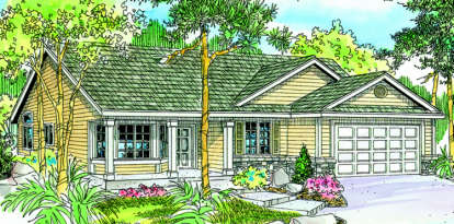 3 Bed, 2 Bath, 1802 Square Foot House Plan - #035-00389