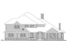 Contemporary House Plan #039-00154 Elevation Photo