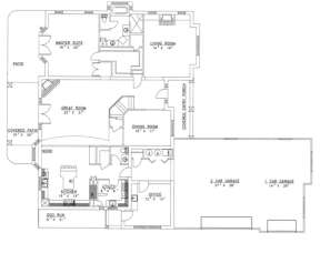 First Floor for House Plan #039-00154