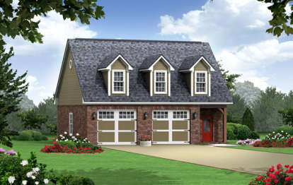 1 Bed, 1 Bath, 1915 Square Foot House Plan - #348-00210