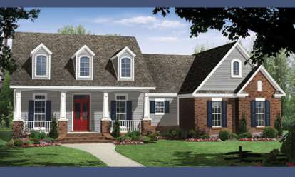 3 Bed, 2 Bath, 1637 Square Foot House Plan #348-00212