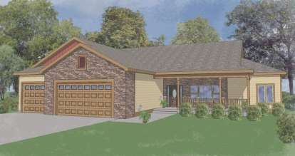 3 Bed, 2 Bath, 1915 Square Foot House Plan - #5244-00002