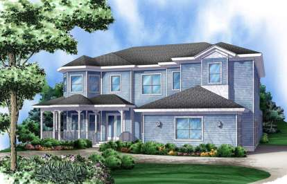 6 Bed, 5 Bath, 4746 Square Foot House Plan - #5565-00003