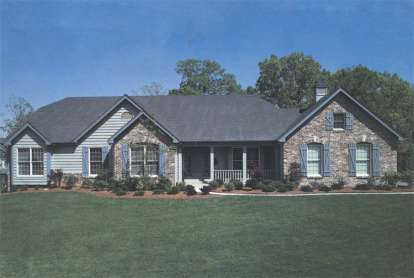4 Bed, 2 Bath, 2874 Square Foot House Plan - #5633-00002