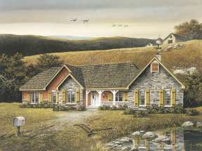 Country House Plan #5633-00002 Elevation Photo