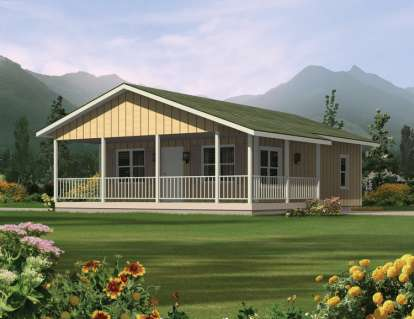 2 Bed, 1 Bath, 720 Square Foot House Plan #5633-00014