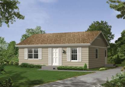 2 Bed, 1 Bath, 800 Square Foot House Plan #5633-00016